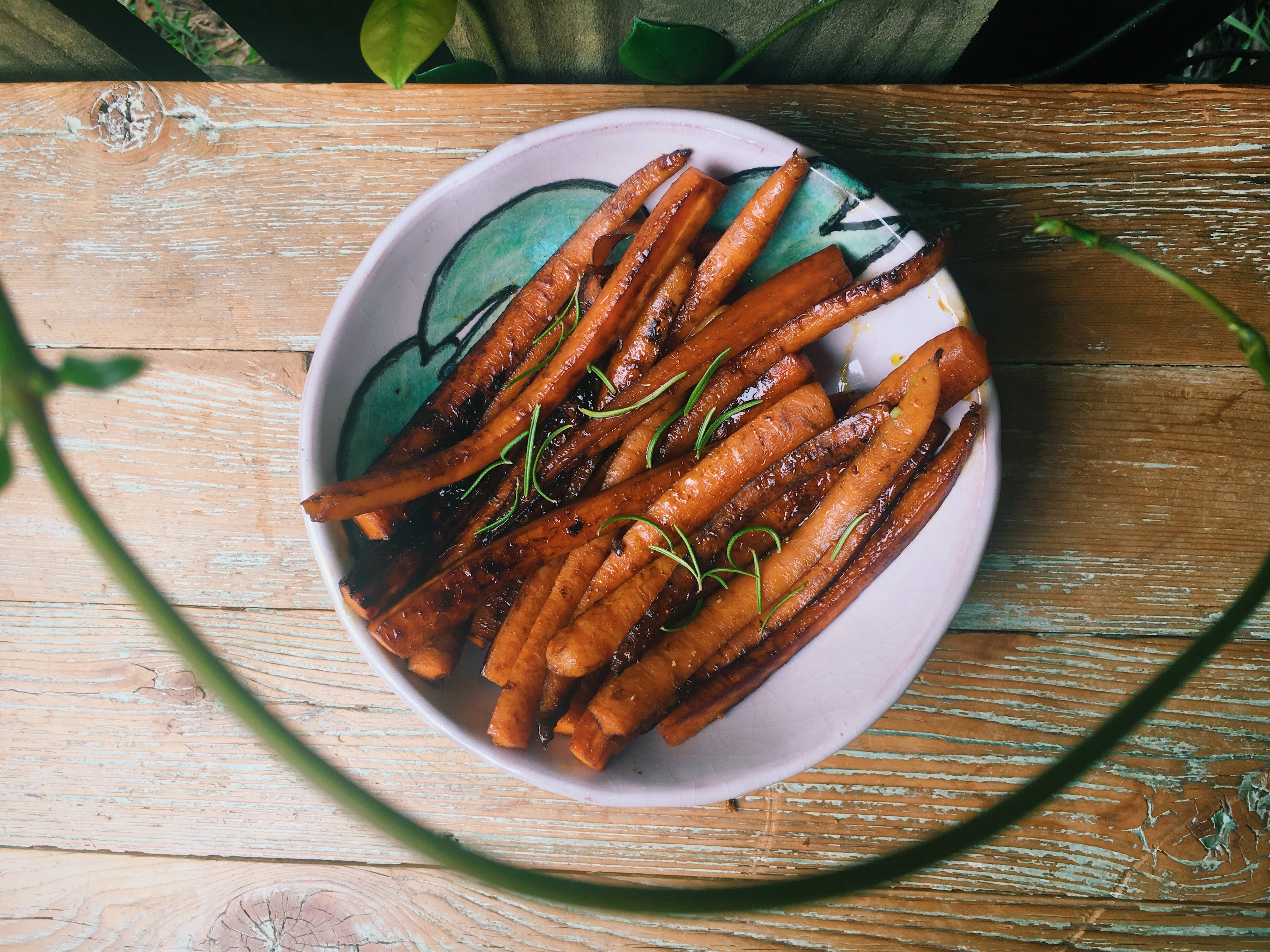 Maple-Cider Glazed Carrots