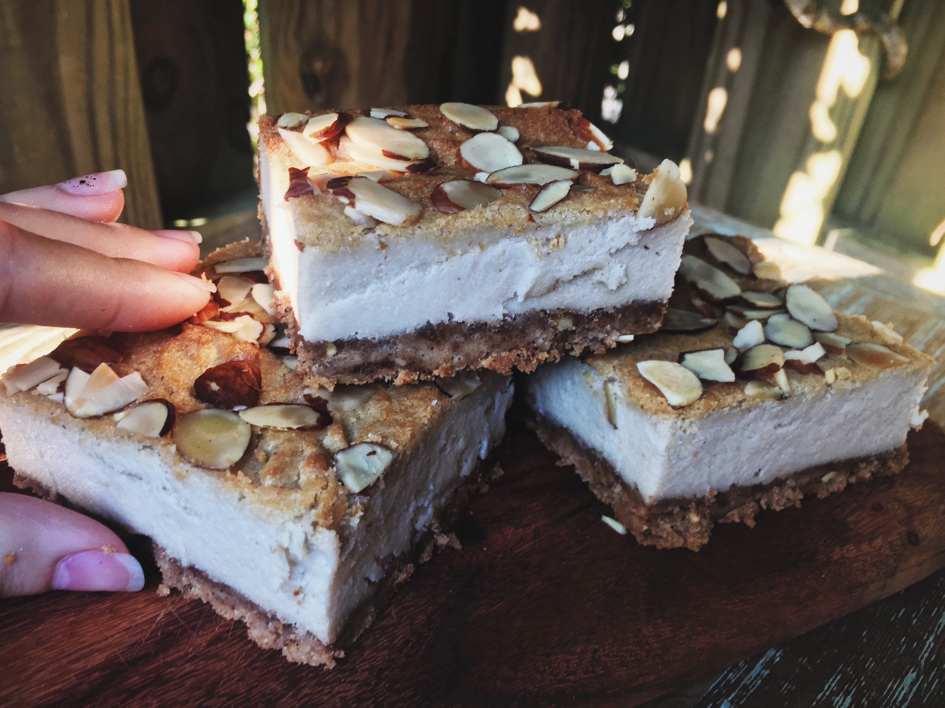 Vegan Almond Cheesecake